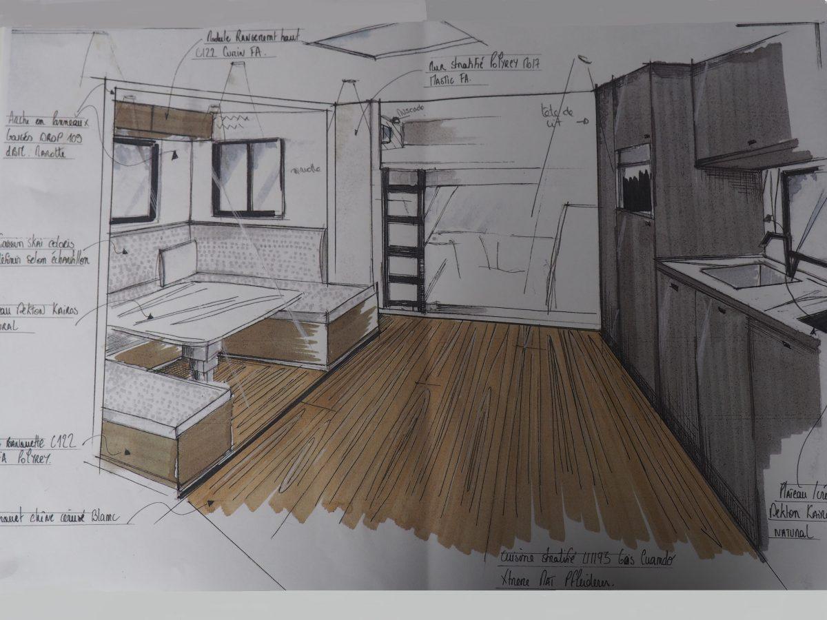 Dibujo de apartamento de peso pesados Chardron