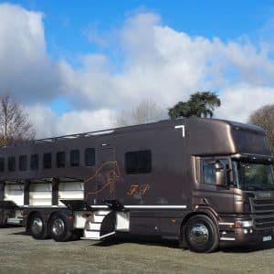 Camion de chevaux haut de gamme